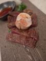 [上田][長野][和食][膳][Japanesefood]信州プレミアム和牛サーロインと鮟肝のソテー