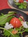 [上田][長野][和食][膳][Japanesefood]アメーラトマトとアオリイカと雲丹のサラダ仕立て