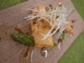 [上田][長野][和食][膳][Japanesefood]穴子のフリットアスパラガス添え