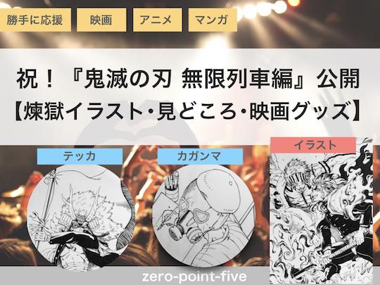 祝!『鬼滅の刃 無限列車編』公開【煉獄イラスト・見どころ・映画グッズ】