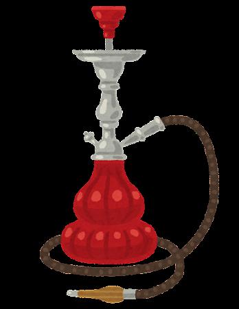 水タバコのイラスト