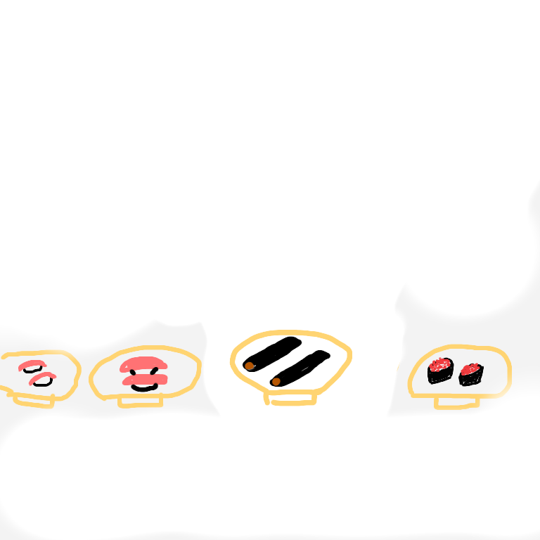 食品サンプル回転寿司