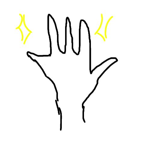 かっこいい手