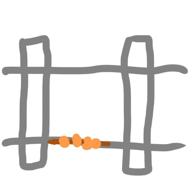 唐揚げ棒と線路