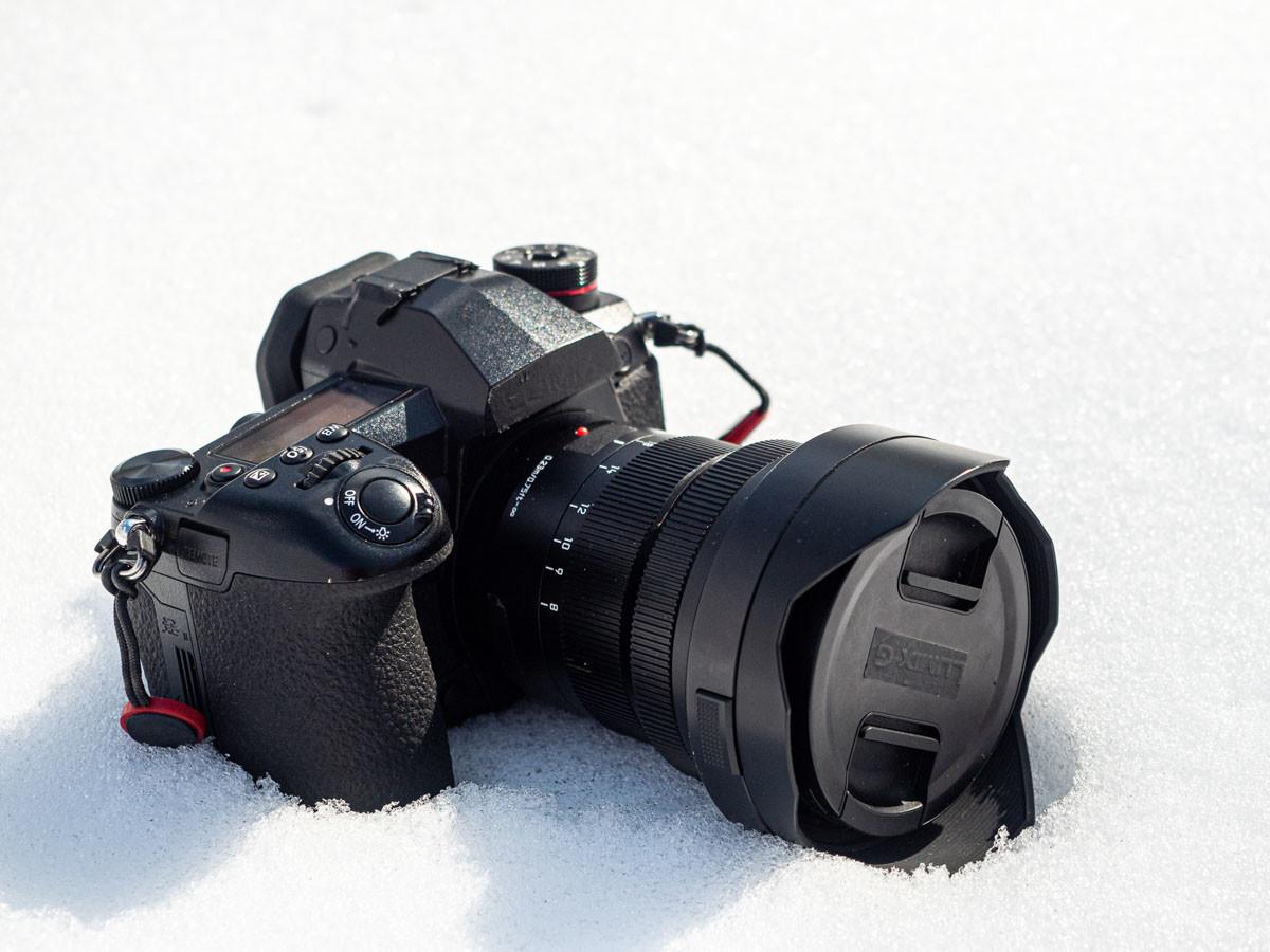 LUMIX G9pro を雪の上で撮影