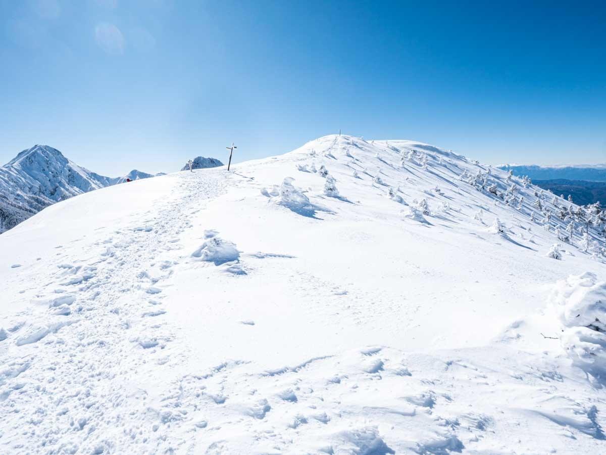 冬の硫黄岳