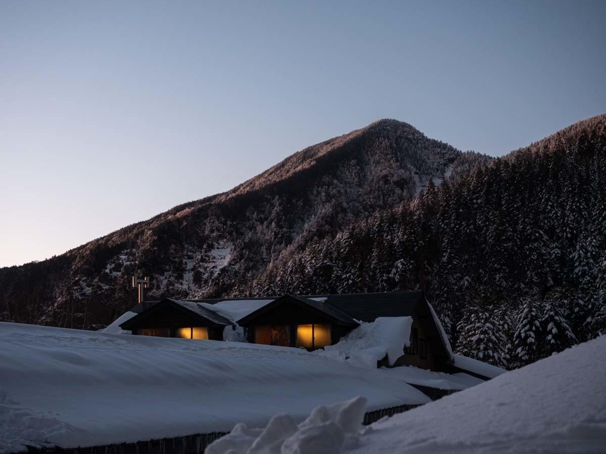 夜の赤岳鉱泉