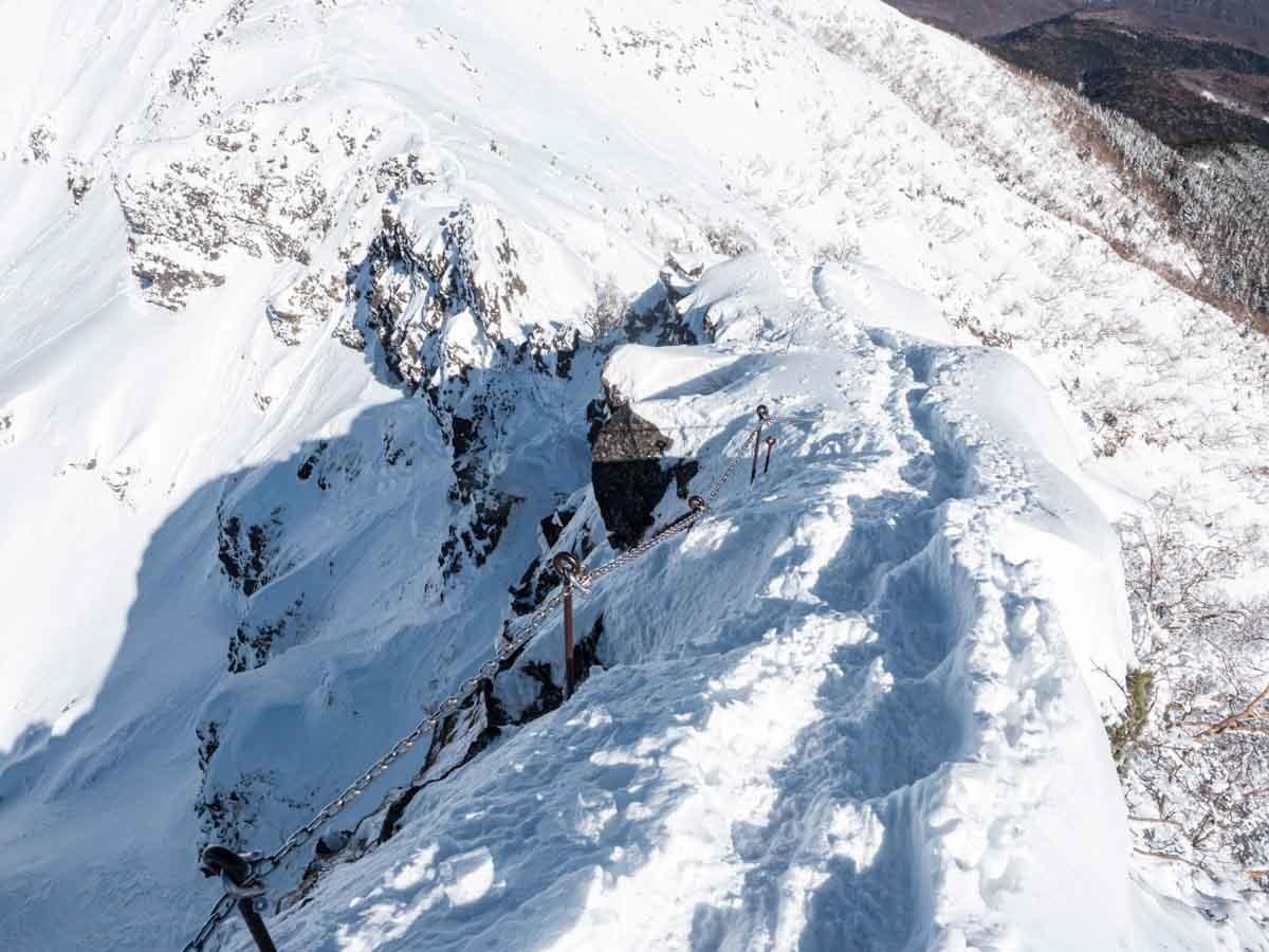横岳山頂直下