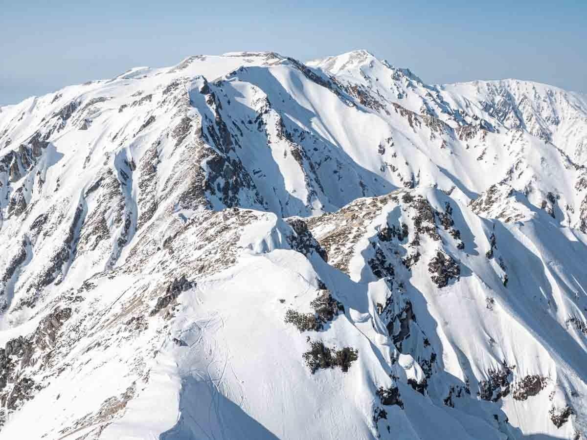 唐松岳から白馬方面