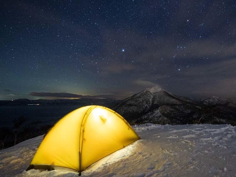 星空とテント