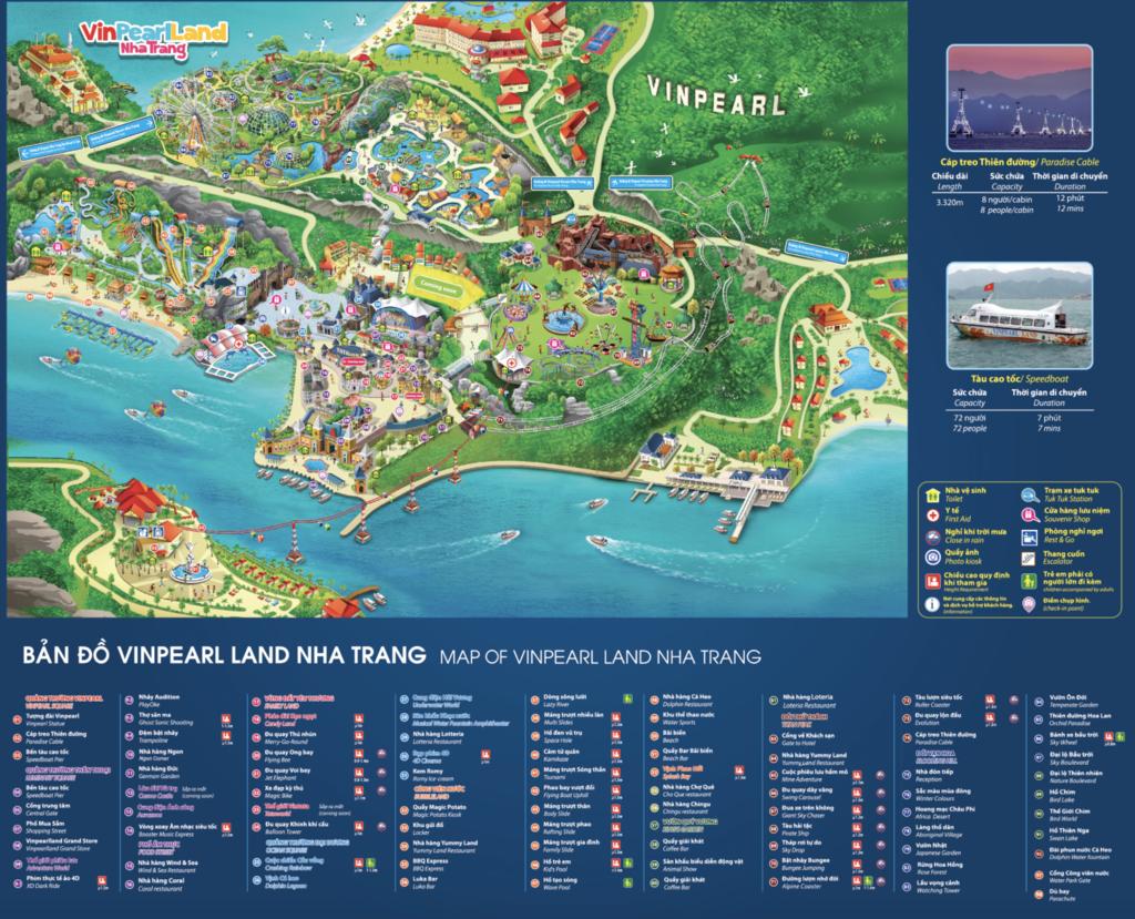 ヴィンパールランド園内マップ