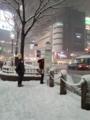 [スクランブル交差点] [雪]