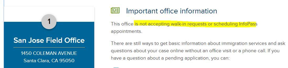 USCISに予約を入れることができない