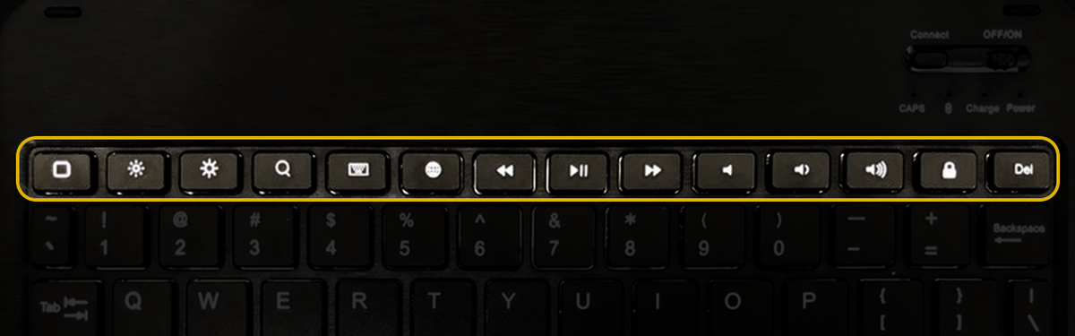 ショートカットキーの有無/Bluetoothキーボード