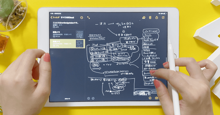 iPadで議事録・メモ・ノート作りに使用