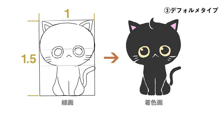 完成図 : デフォルメタイプの猫