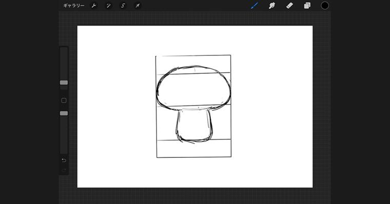 iPadで猫のイラストデザインタイプ / ラフ作成手順2