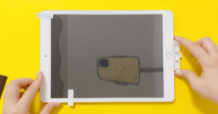NIMASO ペーパーライクフィルム貼り付け フィルム手順3