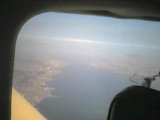 1327大津市上空から琵琶湖大橋を望む