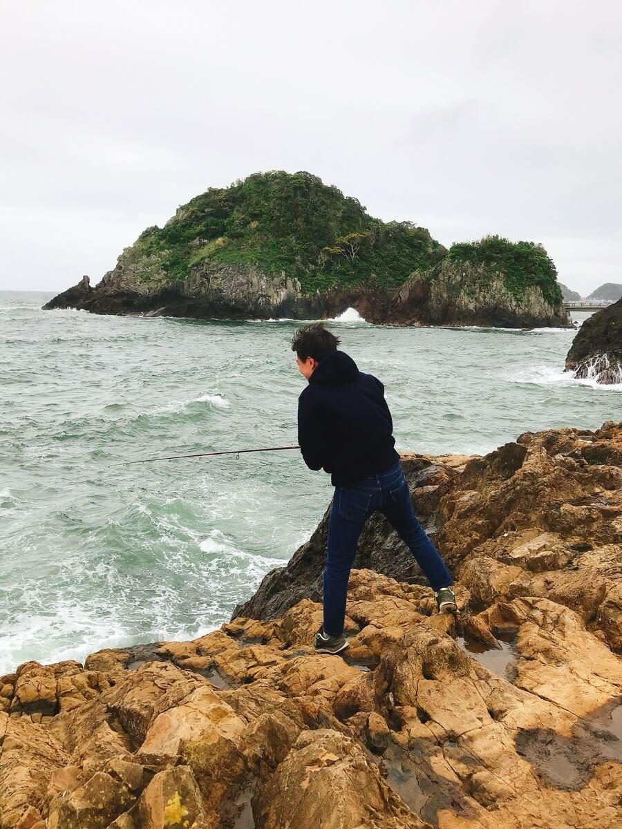 灯台島で泳がせ釣り