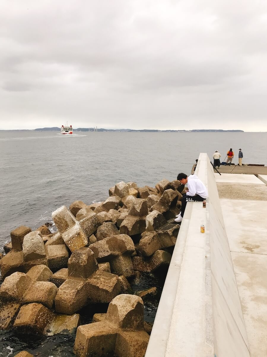 金谷フェリー港北港岸壁
