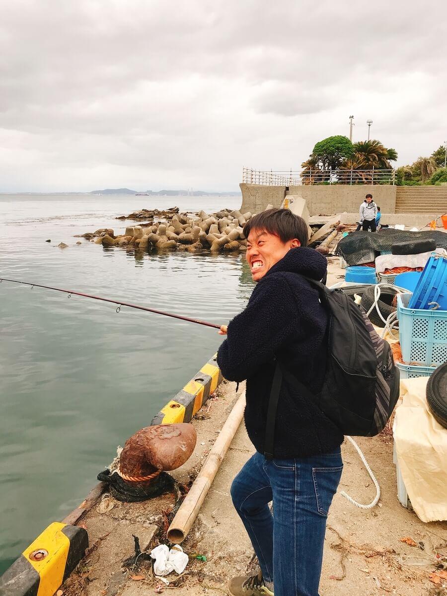 金谷フェリー港タコ釣り