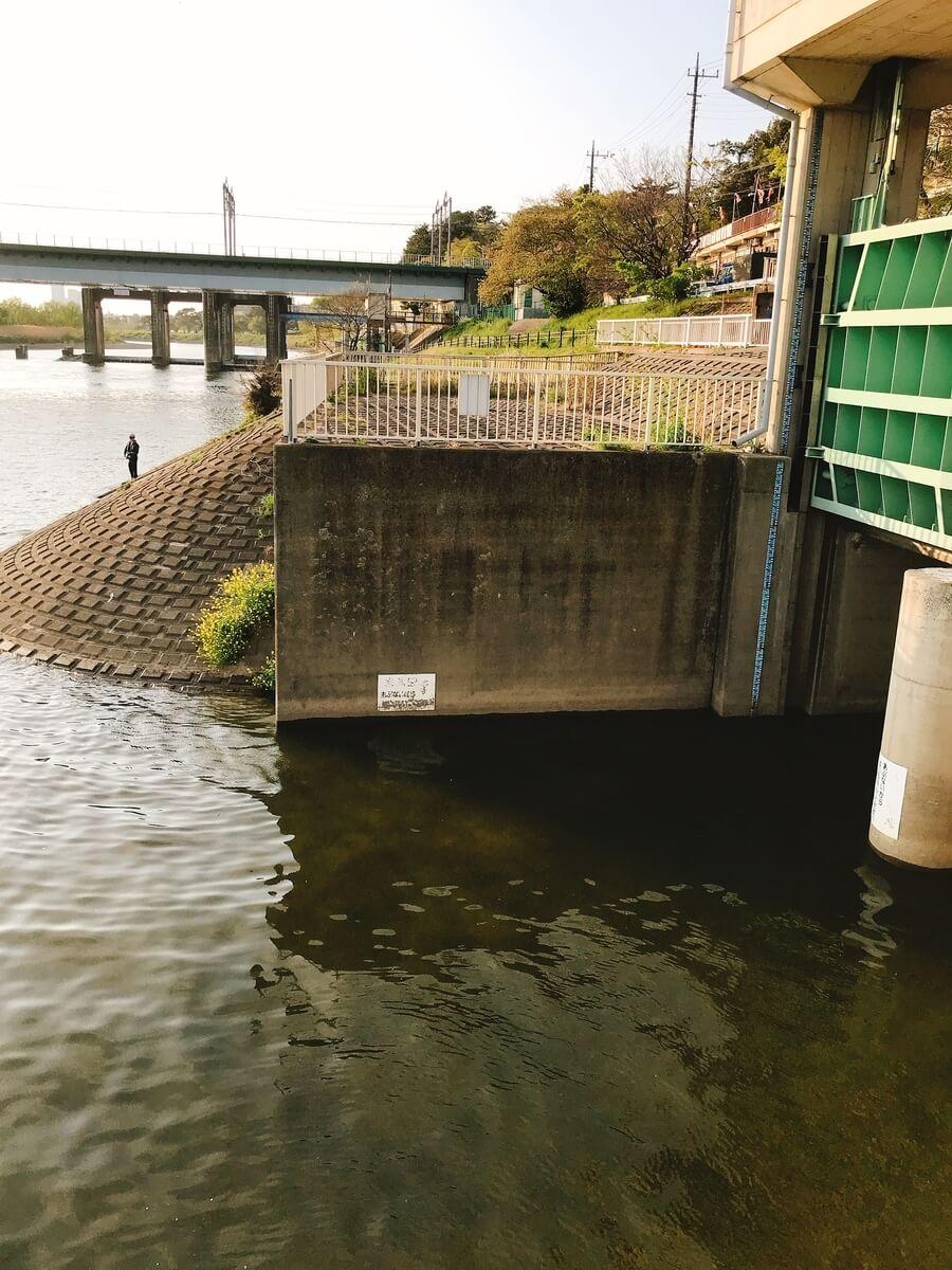 多摩川丸子橋水門