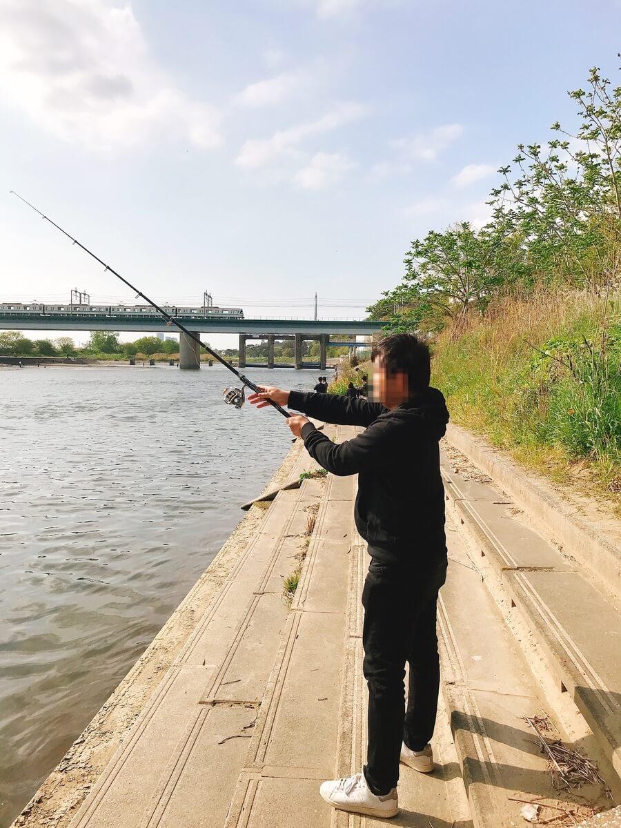 多摩川釣り