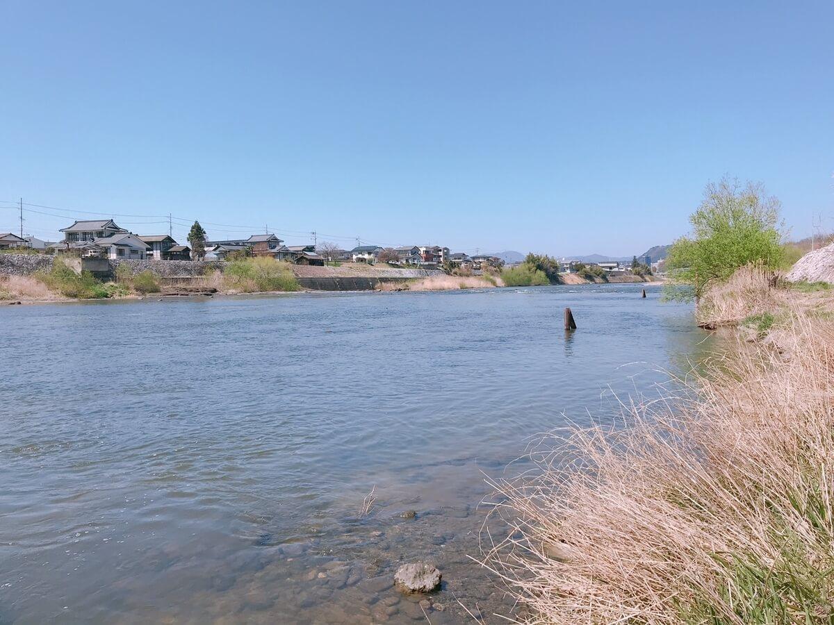 阿武隈川 蓬莱橋