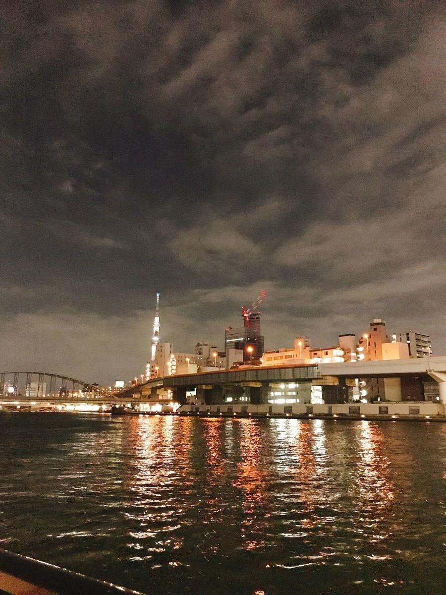 両国橋からみた隅田川