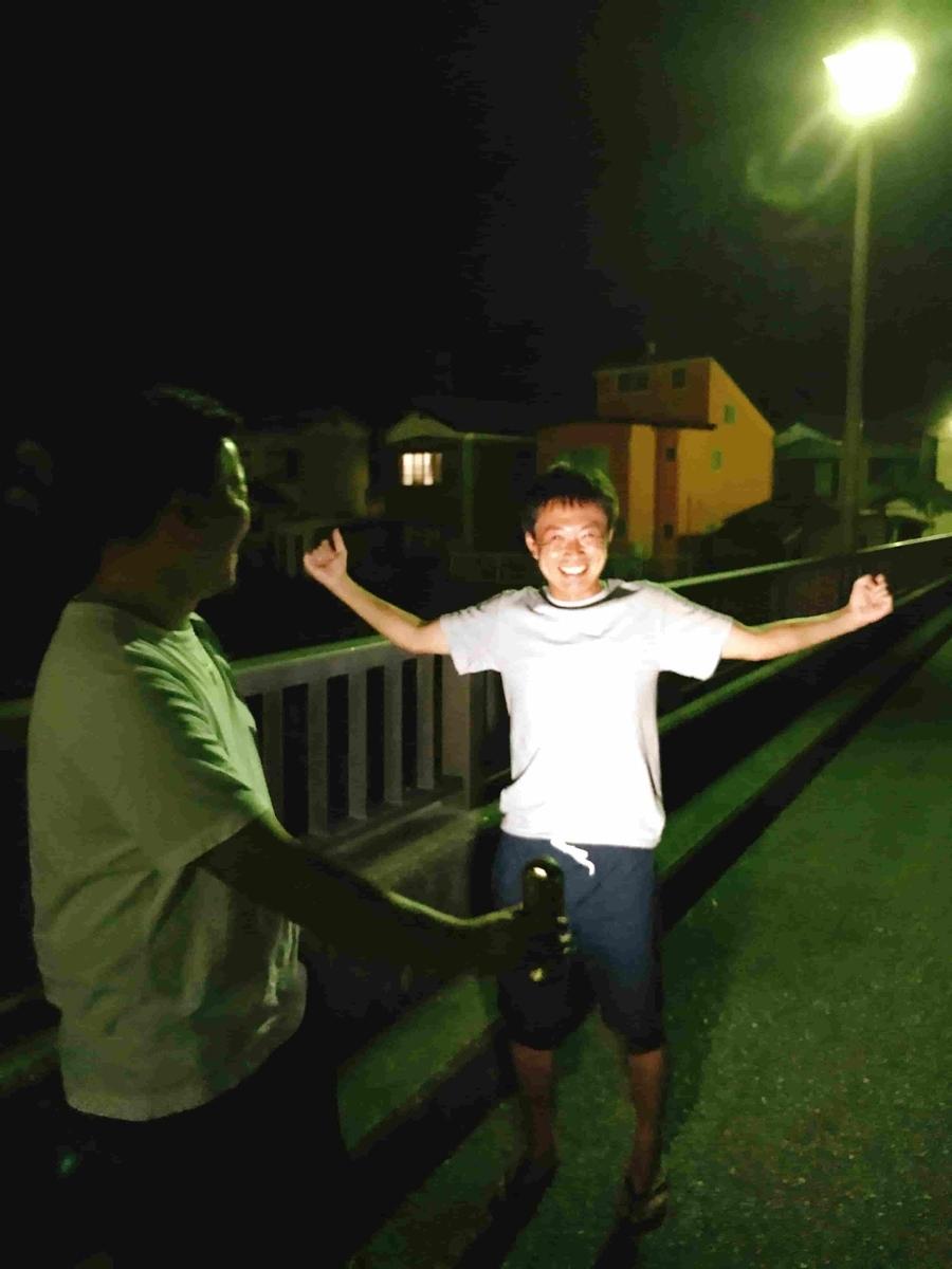 新加茂川橋うなぎ釣り