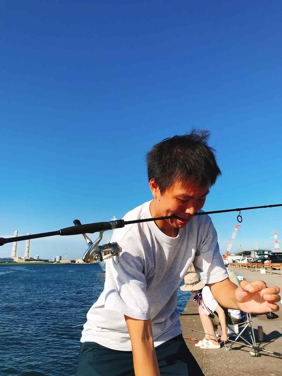 富津新港アジ釣り