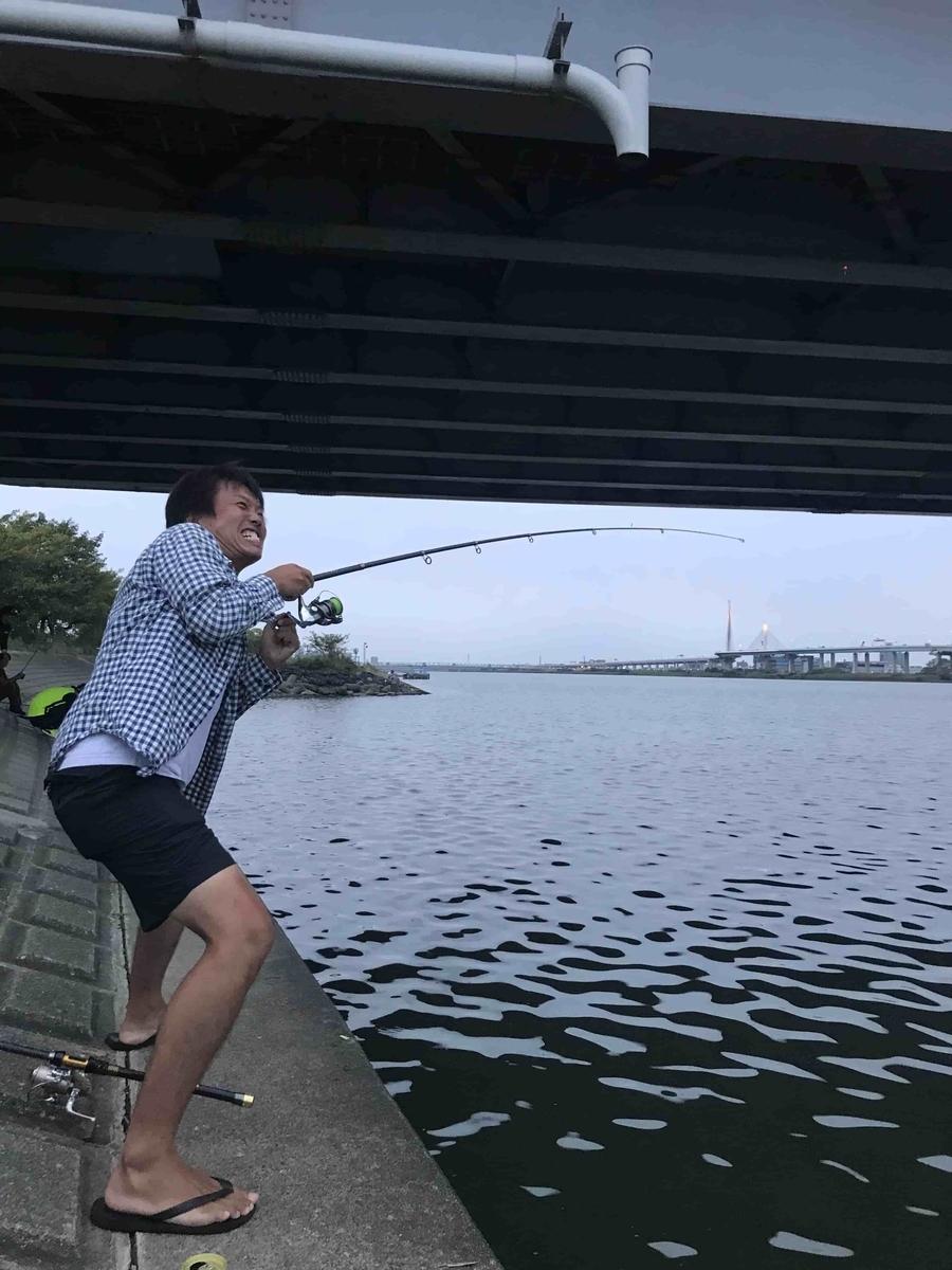 平井大橋うなぎ釣り