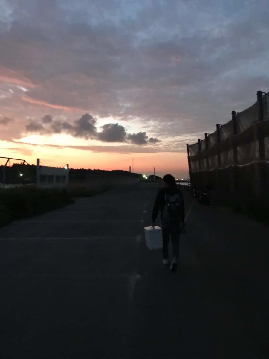 5時頃の道中