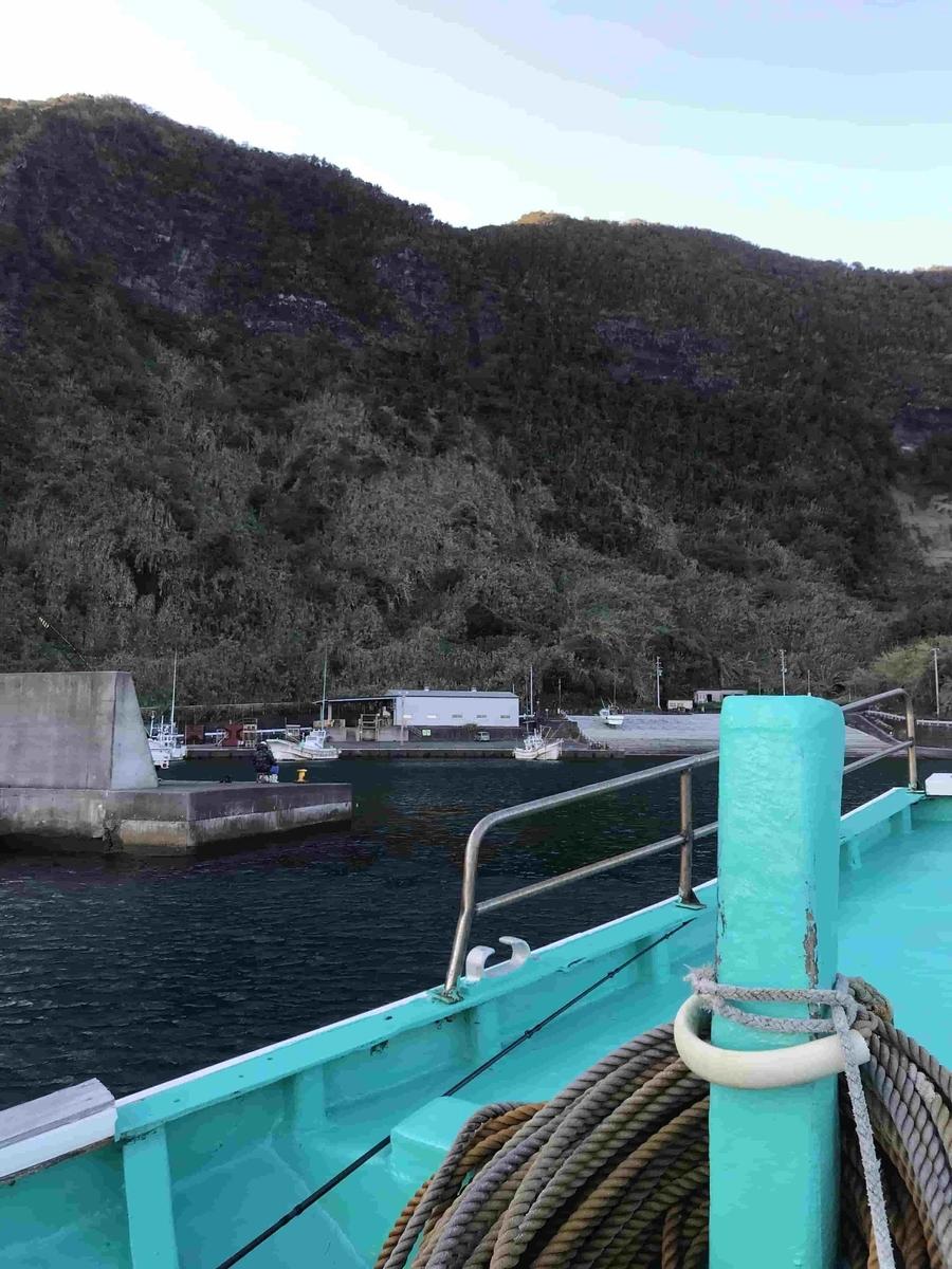 八丈島洞輪沢魚港