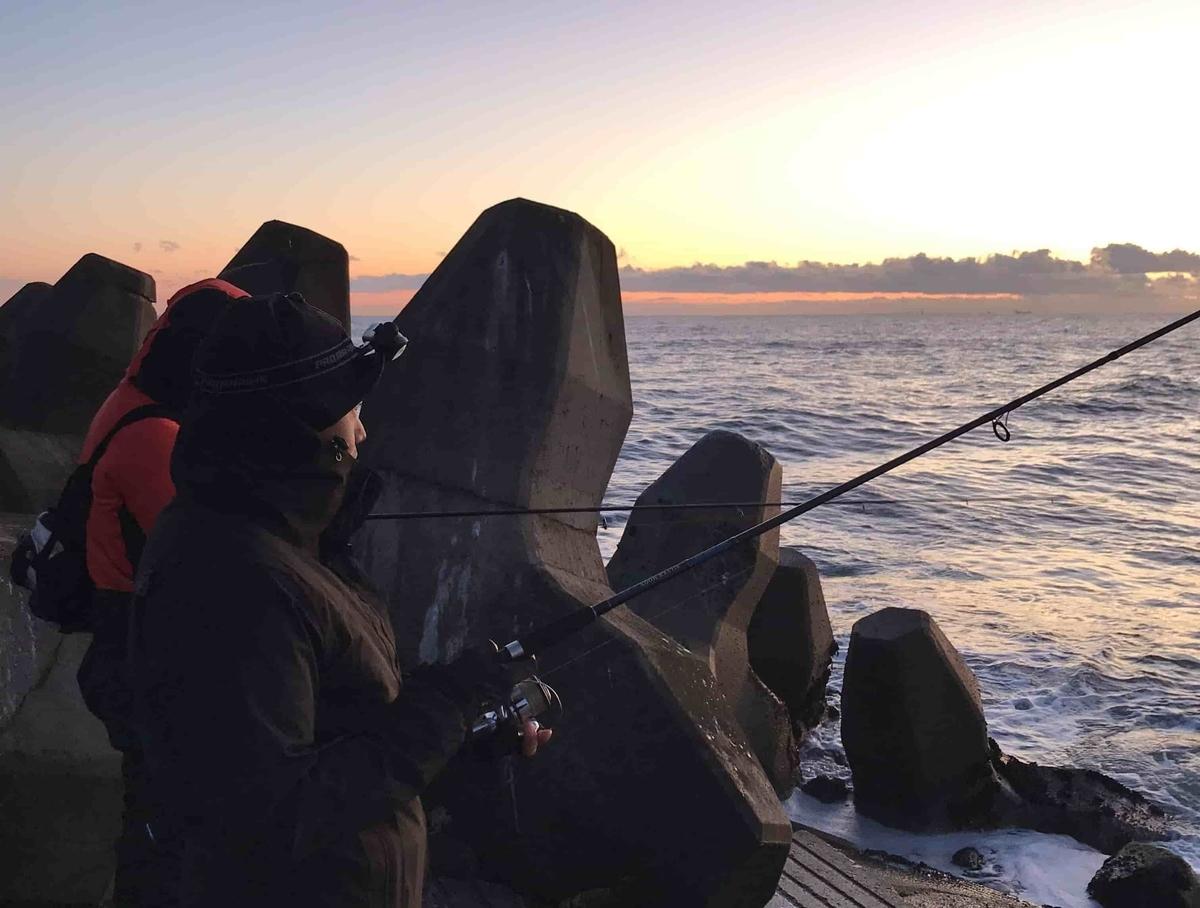 鹿島荒野ヘッドランド釣り