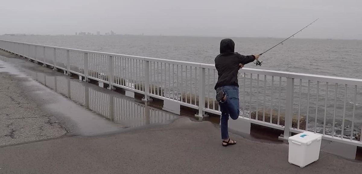 高洲海浜公園釣り遠投