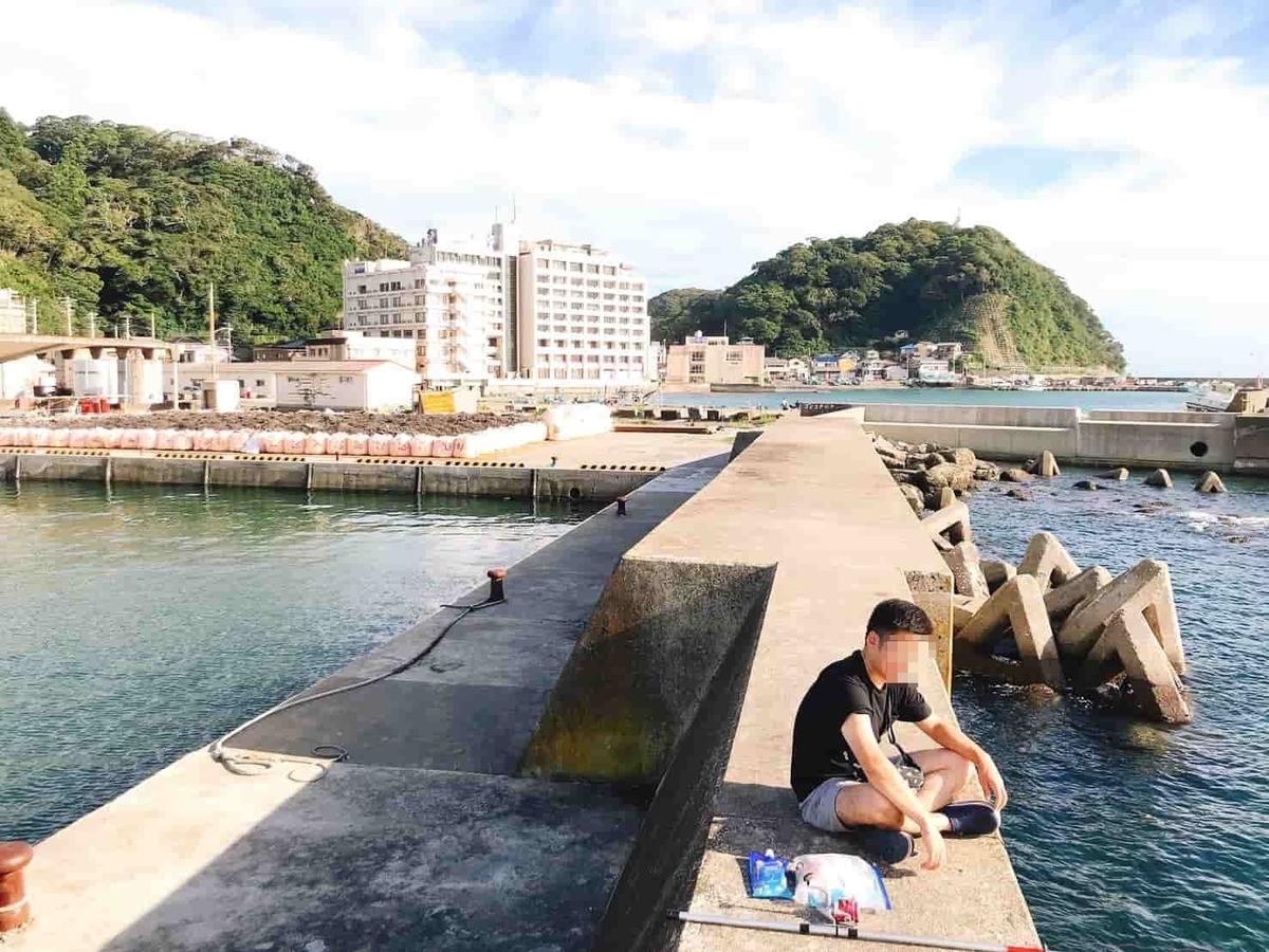小湊港サバ釣り