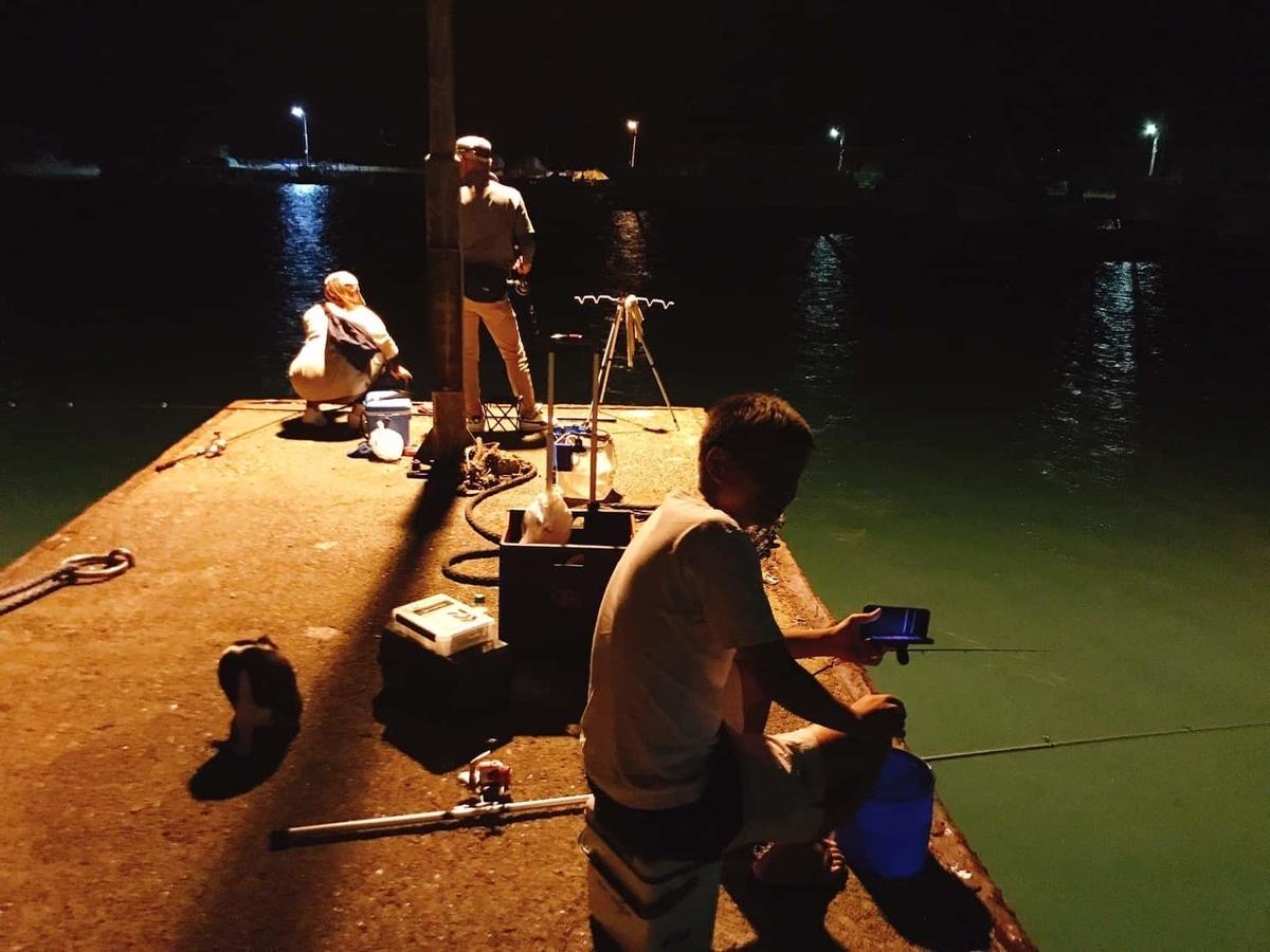 鴨川漁港いわし釣り