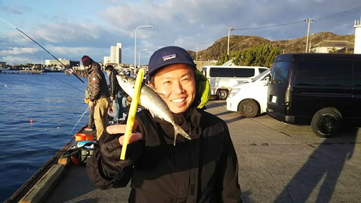 乙浜漁港サバ アジ釣り