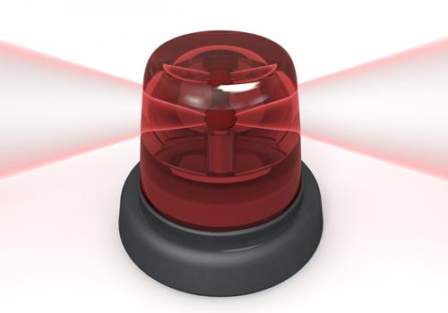 赤色灯点灯