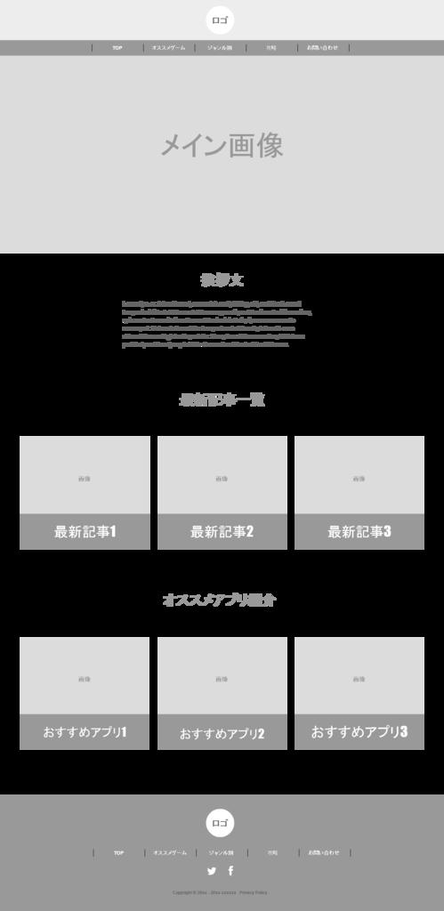 仮サイトワイヤフレーム制作