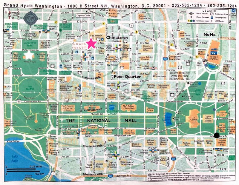 ワシントンDCマップ
