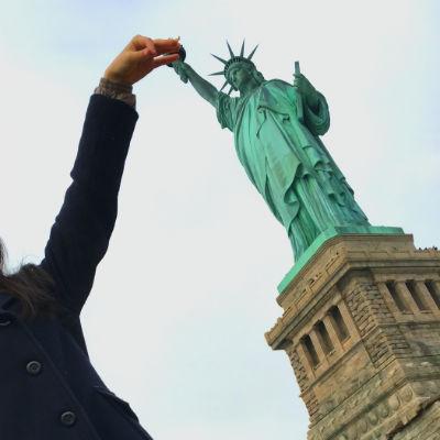 ニューヨーク弾丸旅行★自由の女神-写真スポット