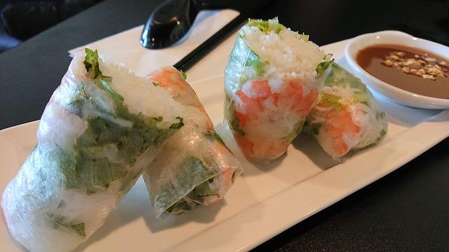 ボジョレー・ヌーボーに合うおつまみ 生春巻き ベトナム料理、タイ料理