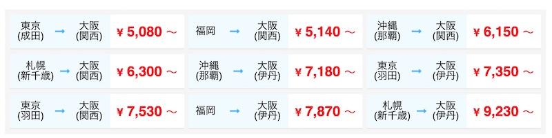 東京・羽田から大阪・関空までの移動手段の最安値は?格安航空券の検索方法