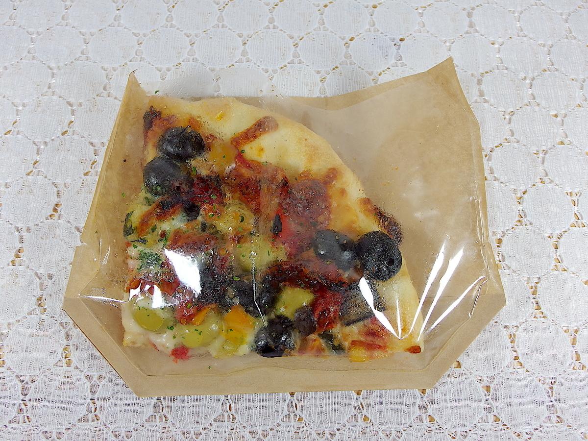 オリーブのピザ