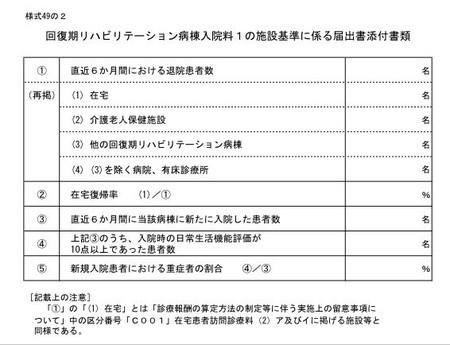 回復期リハ施設基準書類
