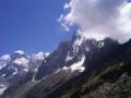 Les Gr. Jorasses & Aig des Gr. Charmoz(3444m) from the peak of Montenvers(2204m)