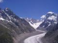Les Gr. Jorasses (right: 4208m) & Mer de Glace from Montenvers(2204m Peak)